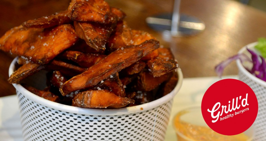 Grill'd Now Serves Sweet Potato Chips from Mountain Harvest Foods