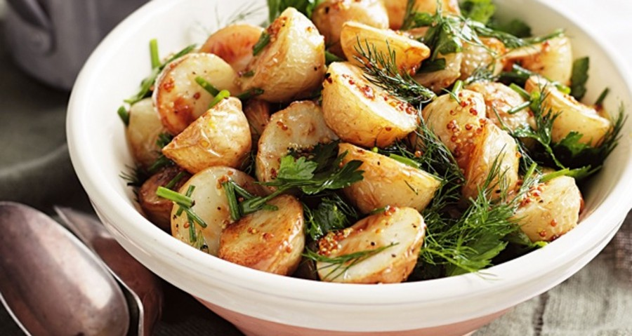 Our favourite potato recipe – Roast Potato Salad with Mixed Herbs